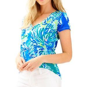 Lilly Pulitzer Michele V Neck Tshirt
